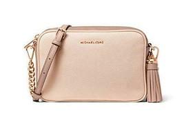 Michael Kors Medium Leather Camera Crossbody Bag (Soft Pink/Fawn) - $178.00