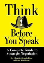 Think Before You Speak [Hardcover] Lewicki, Roy J. image 2