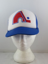 Quebec Nordiques Trucker Hat (VTG) - Original Logo Screened On - Adult Snapback - $65.00