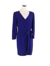 Purple SCAASI DRESS long sleeve sheath vintage dress 12 - $199.99