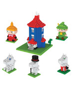 MOOMIN VALLEY 6 Different Character Micro Block Mini Brick Moomin's Fami... - $29.99