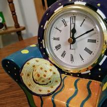 Whimsical  Milson & Louis Clock Chair QUARTZ CLOCK Hand Painted  Mint Condition  image 5