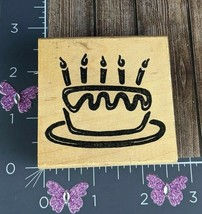 Stampworks Rubber Stamp Birthday Cake Candles Party Celebration #U15 - $4.70