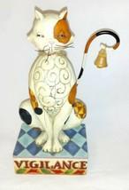 Jim Shore Heartwood Creek Enesco VIGILANCE Cat Figure 2006 #4006927 VG+ - $34.60