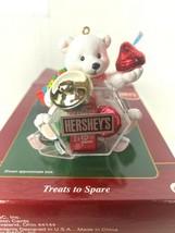 Hersheys Carlton Cards - Treats To Spare Bear Ornament 2000 CXOR-093C - $16.82
