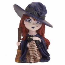 Lenox Halloween Winnie The Witch Figurine Spooky Town Black Cat Decorati... - $39.98