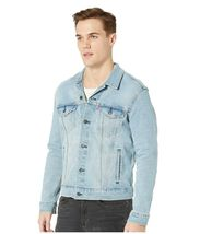 Levi's Men's Classic Button Up Denim Jeans Trucker Jacket Blue Stretch 723340323 image 3