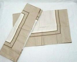 Simply Vera Wang Embroidered 2-Line Brown Sand Border Standard Shams (Set of 2) - $39.00