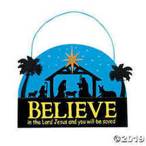 """Believe"" Nativity Sign Christmas Craft Kit - $11.61"
