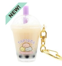 New Sumikko Gurashi Tapioca Bubble Tea Style Filled Keychain Sanrio Free... - $34.64
