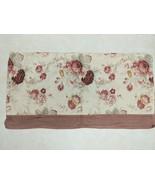 "Waverly Garden Room Norfolk Rose 100% Cotton Floral Check Valance 18"" L ... - $13.99"