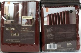 "2 Packs Allen & Roth Gatton 50"" X 84"" 0792489 Barn Red Back Tab Blackout... - $33.99"