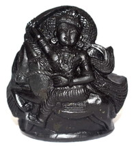 Kalki Idol Carved On Natural Golden Sudarshan Shaligram - $123.75