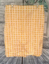 Talbots Size 14 Vibrant Yellow Ivory Skirt Lined Zipper Bright Happy Career - $20.47