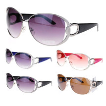 Womens Round Metal Exposed Lens Large Butterfly Diva Sunglasses - $5.95