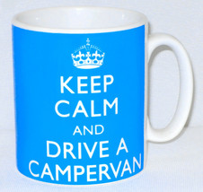 Keep Calm & Drive A Campervan Mug Can Personalise Great Camping Camper V... - $11.75