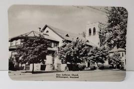 Williamsport Md Photo Postcard Zion Lutheran Church - $9.89