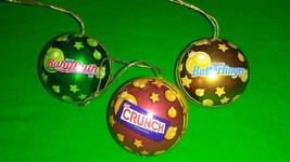 COLLECTABLE Christmas Nestle bulbs ~CRUNCH, BUTTERFINGER, BABY RUTH CHOC... - $14.01