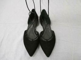 STUART WEITZMAN Black Goosebump Nappa Leather Gilligan Lace-up Flats - Size 8 - $108.90