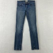 Aeropostale Bayla Skinny Denim Jeans Women's 1/2R Blue Faded 5-Pocket Lo... - $18.95