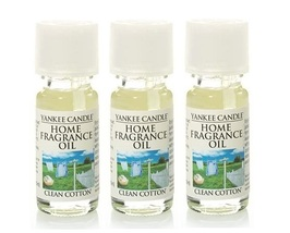 Yankee Candle Clean Cotton Home Fragrance Oil .33 oz - x3 - $23.50