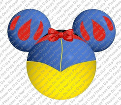 Snow White Mickey Mouse Head Disney Iron On Transfer Instant Download Yo... - $3.95
