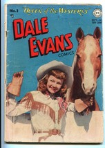 DALE EVANS #1-1948-DC-PHOTO COVER-1ST ISSUE-SIERRA SMITH-ALEX TOTH-vg minus - $151.32