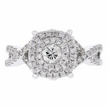 0.70 Prong Set Diamond 14k White Gold Ring Size 7 G-H, SI1-SI2 - £1,054.22 GBP