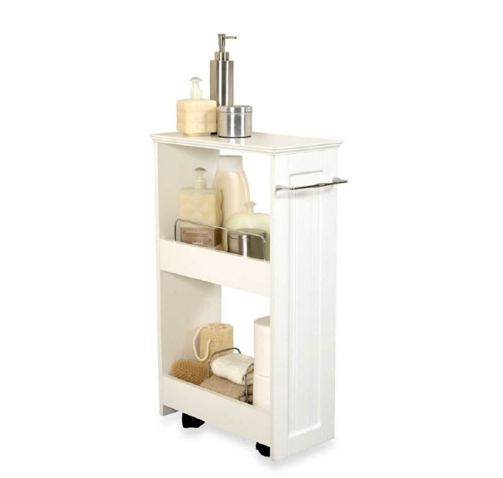Bathroom Storage Cart Organizer Shelves Bath Shelves Slim Mobile Portable Shelf