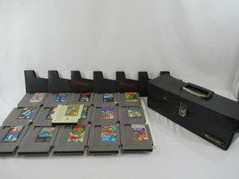 Nintendo NES Game Lot of 16 w/ Case Zelda Tiger Hell Simpsons TMNT Mario... - $77.39