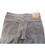 Levis Strauss 518 Super Low Stretch Slim Bootcut Gray Jeans Juniors 7 32x29 - $19.79