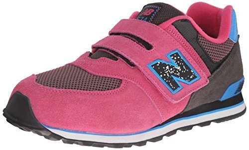 New Balance KV574Y Outside Pack Classic Running Shoe (Little Kid/Big Kid), Black