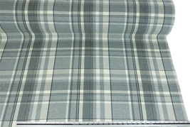 Tartan Check Wool Look and Feel Grey Cream Upholstery Fabric Material *3... - $2.98+
