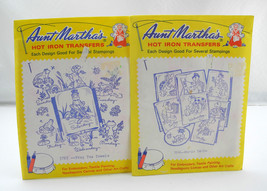 2 Aunt Martha's Hot Iron Transfers Frog Tea Towels 3765 & Murtle Turtle ... - $5.65
