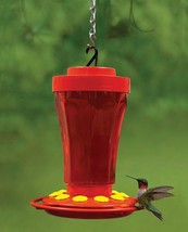 Innovative 32-ounce Hummingbird Feeder Flower Design Wide Mouth Reservoir - $17.92