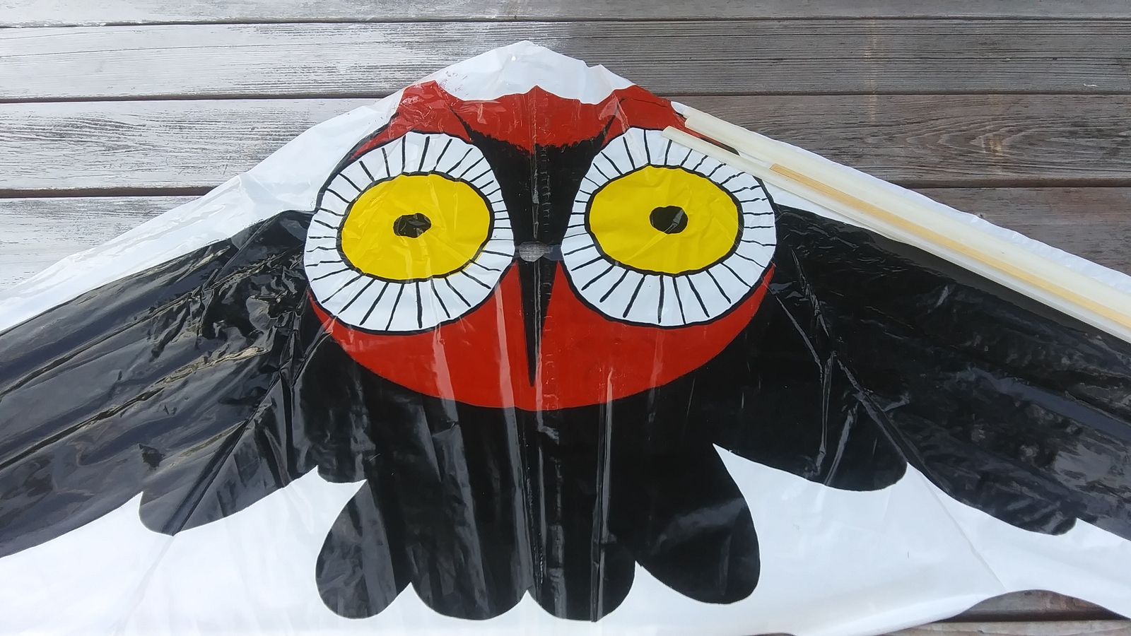 Primary image for Kite Delta Owl Hi Flier Vintage Plastic Toy Kite New Old Stock Found Collectible