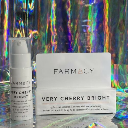 Farmacy New In Box Travel Size VERY CHERRY BRIGHT Vitamin C Se 5mL Trial Try Me