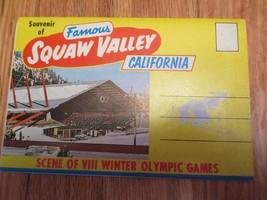 Squaw Valley California CA Souvenir Folder Postcard - $4.99
