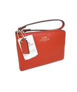 Coach Signature Wristlet Hand Bag Purse Genuine Leather Crossgrain Carmi... - $49.48