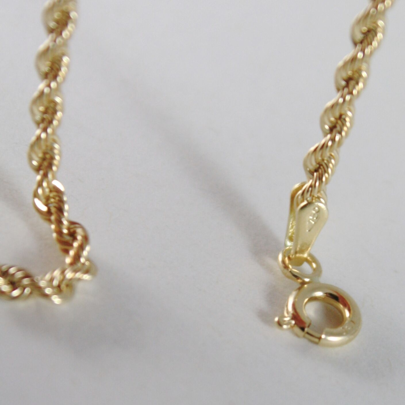Chain a Yellow Gold Braided Rope 750 18K, 40 45 50 60 cm Thickness 2.5 MM