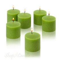 Light In The Dark Lime Green Votive Candles - Box of 12 Unscented Candle... - $12.81