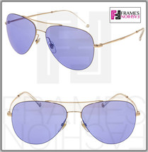 GUCCI TECHNO 0500 Aviator GG2245S Gold Lilac Mirrored Sunglasses Unisex ... - $266.31