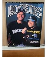 Rockies Scorecard Magazine Vol 9 No 1 April 2001 Hampton & Neagle - $8.99