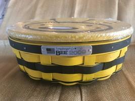 Longaberger 2009 Bee Basket Set - Includes Basket, Protector, Liner, Lid... - $122.15