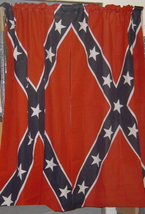 NEW *** REBEL /CONFEDERATE  SHOWER CURTAIN WITH HOOKS ***  - $24.95