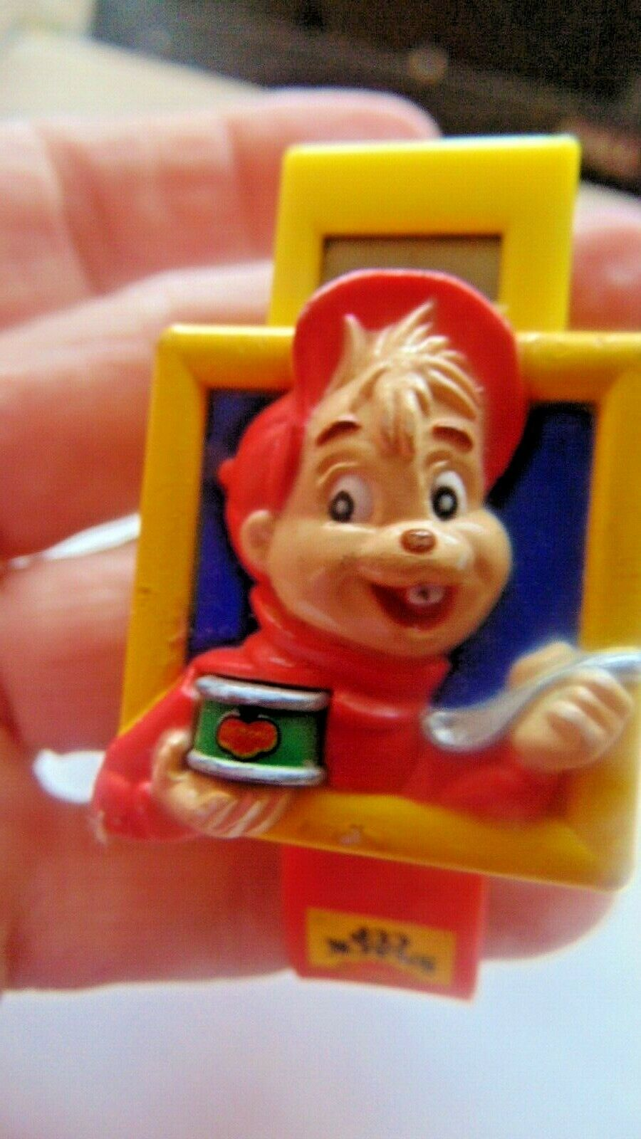 Primary image for Vintage Del Monte Snack Watch For Kid Push Snack & Top Pops Up To Tell Time