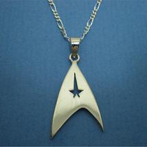 Handmade 925 Sterling Silver Star Trek Necklace Pendant - Gift for Geek,... - $42.00