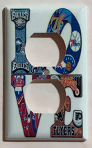Eagles Phillie Flyers 76ers LOVE Light Switch Outlet wall Cover Plate Home Decor image 2