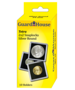 Guardhouse Tetra Snap Lock 2x2 Silver Round Coin Holder 10 Pack  - $7.49