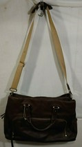 LIZ CLAIBORNE Brown Leather Laptop Bag Briefcase Tote Business School - $32.71
